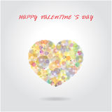 Colorful heart shape on gradient background Stock Photography