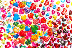 Colorful Heart Shape Isolated On White Background Royalty Free Stock Photos