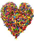 Colorful heart shape isolated Royalty Free Stock Photo