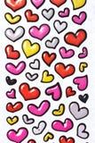 Colorful heart shape isolated on white background Stock Photos