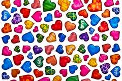Colorful heart shape isolated on white background Stock Image