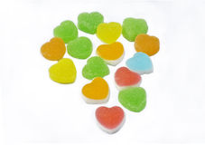 Colorful heart shape jelly candy Royalty Free Stock Images