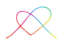 Colorful heart shape rope Stock Image