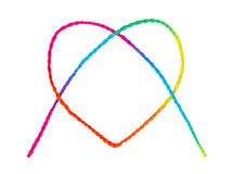 Colorful heart shape rope Royalty Free Stock Photography