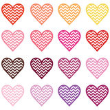 Colorful heart shape Stock Images