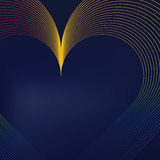 Colorful heart shaped lines. Abstract background.Vector, EPS8 Royalty Free Stock Photo