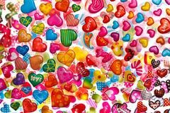 Colorful heart shapes Stock Photography