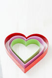 Colorful heart shapes Stock Images