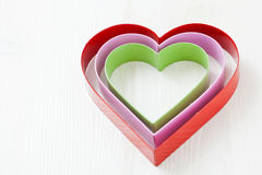 Colorful heart shapes Royalty Free Stock Photos