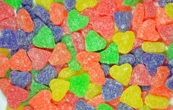 Colorful heart shapes candy Royalty Free Stock Image