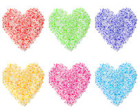 Colorful Heart Shapes Royalty Free Stock Image