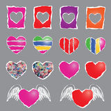 Colorful heart sign Royalty Free Stock Images