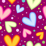 Colorful heart texture Stock Images