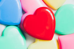 Colorful heart for valentine background, vintage color tone. stock photos