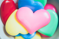 Colorful heart for valentine background, vintage color tone. Colorful heart for valentine background, vintage color tone royalty free stock photography