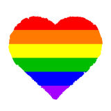 Colorful heart Stock Photography
