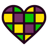 Colorful heart vector illustration Royalty Free Stock Photos