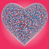 Colorful Heart Vector Stock Photography