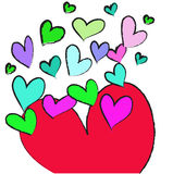 Colorful heart on white background Royalty Free Stock Image