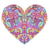 Colorful heart on white background Stock Photo