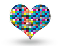 Colorful heart on white background. For your design royalty free illustration