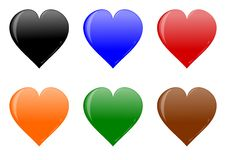 Colorful heart for your love Stock Images