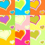 Colorful hearts 01 vector illustration