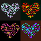 Colorful hearts Stock Photos