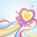 Colorful hearts abstract background. Colorful pastel hearts abstract background Royalty Free Stock Photo