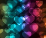 Colorful hearts background Royalty Free Stock Photo