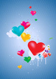 Colorful hearts Background Stock Photography
