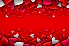 Colorful hearts background Royalty Free Stock Photography
