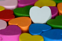 Colorful hearts background Stock Photo