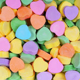 Colorful Hearts background. Sweetheart Candy Stock Photo