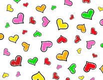 Colorful Hearts background / texture. Specially for valentine's day greeting cards and backgrounds Royalty Free Stock Photography
