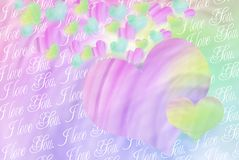 Colorful hearts background for valentines Stock Images