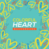 Colorful Hearts Background vector illustration