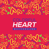 Colorful Hearts Background Royalty Free Stock Images
