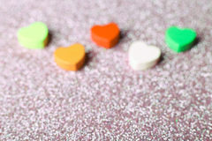 Colorful Hearts Blurred Royalty Free Stock Photography