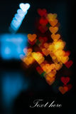 Colorful hearts bokeh Stock Photo