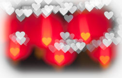 Colorful hearts bokeh as background Royalty Free Stock Photography