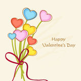 Colorful hearts bouquet for Valentines Day. Royalty Free Stock Photography