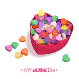 Colorful Hearts Candy for Valentines Day for posters, cards or leaflet. Stock Images