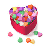 Colorful Hearts Candy for Valentines Day for posters, cards or leaflet. Royalty Free Stock Images