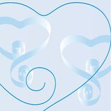 Colorful hearts Royalty Free Stock Image