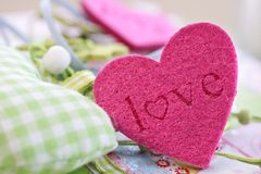 Colorful hearts for decoration Royalty Free Stock Image