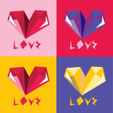 Colorful hearts Royalty Free Stock Photography