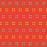 Colorful Hearts And Graphic Seamless Pattern Background. vector illustration