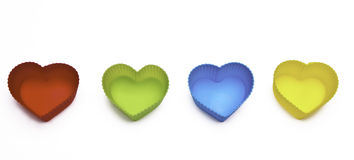 Colorful hearts isolated on white background Royalty Free Stock Photos