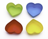 Colorful hearts isolated on white background Stock Photos